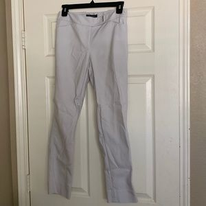WHBM Perfect Form Slim Ankle Pants (Feather Gray)